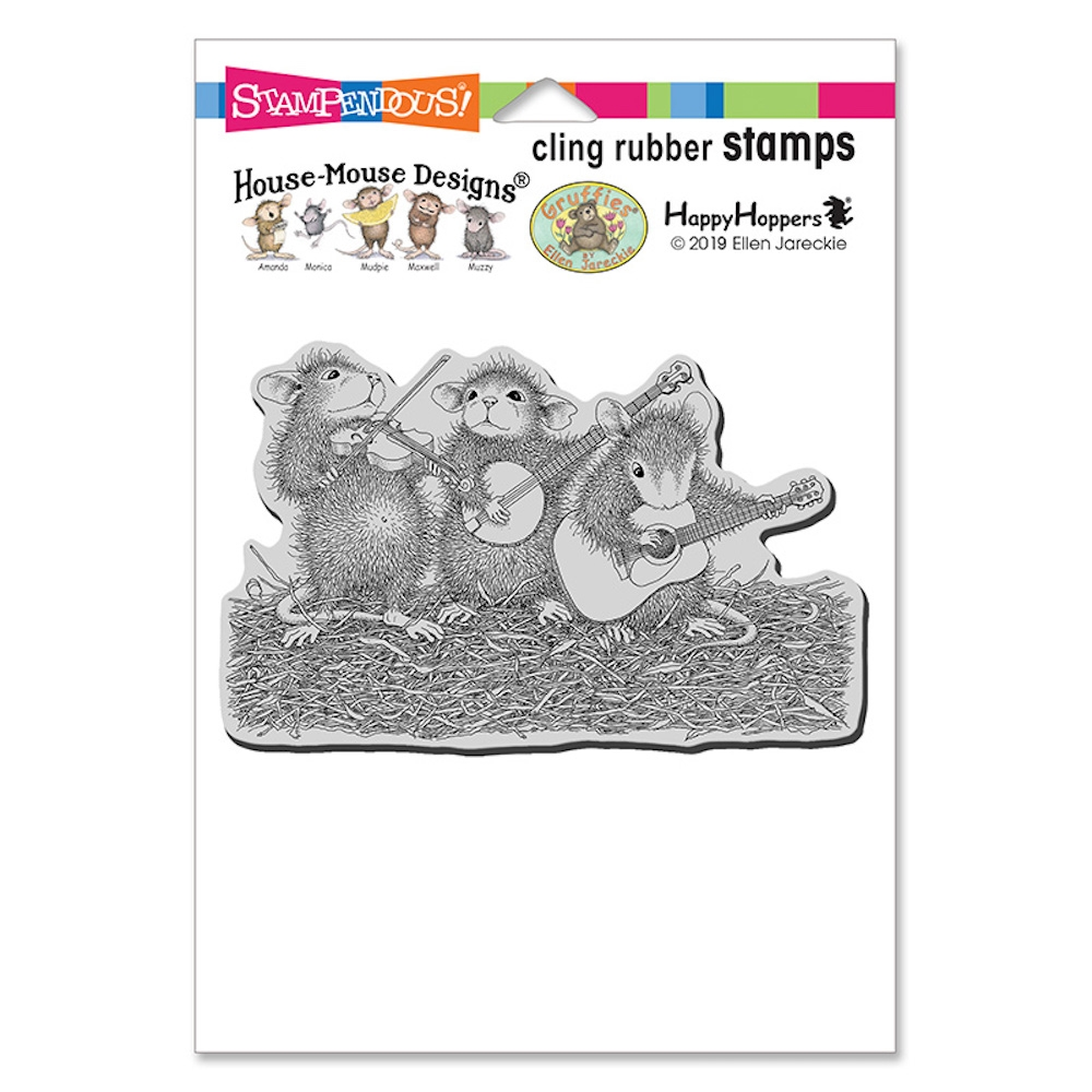 Stampendous Cling Stamp BAND OF MICE hmcp121 House Mouse zoom image