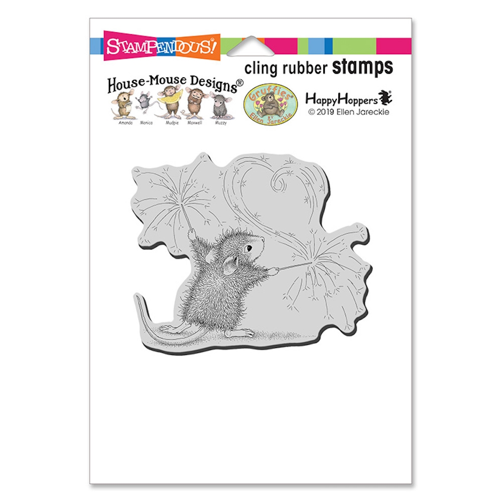Stampendous, House Mouse Sparkler Art Cling Stamp
