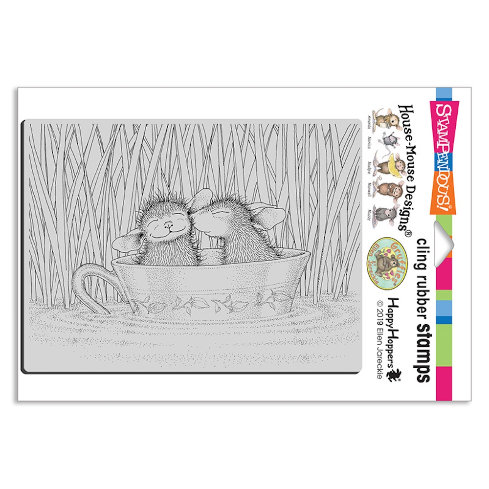 Stampendous, House Mouse Teacup Kiss Cling Stamp