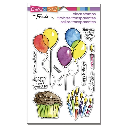 Stampendous Clear Stamps BALLOONS AND MORE ssc2011 Preview Image