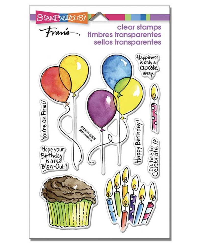 Stampendous Clear Stamps BALLOONS AND MORE ssc2011 zoom image