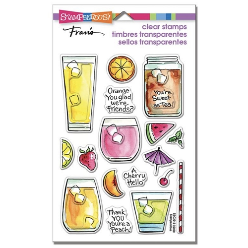 Stampendous Clear Stamps FRUITY DRINKS ssc2012 Preview Image