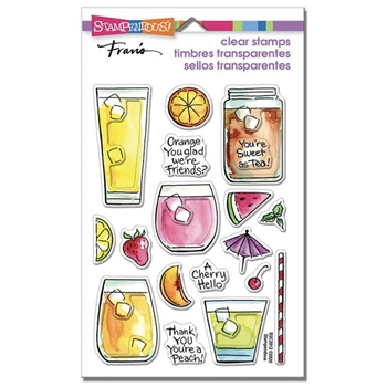 Stampendous Clear Stamps FRUITY DRINKS ssc2012