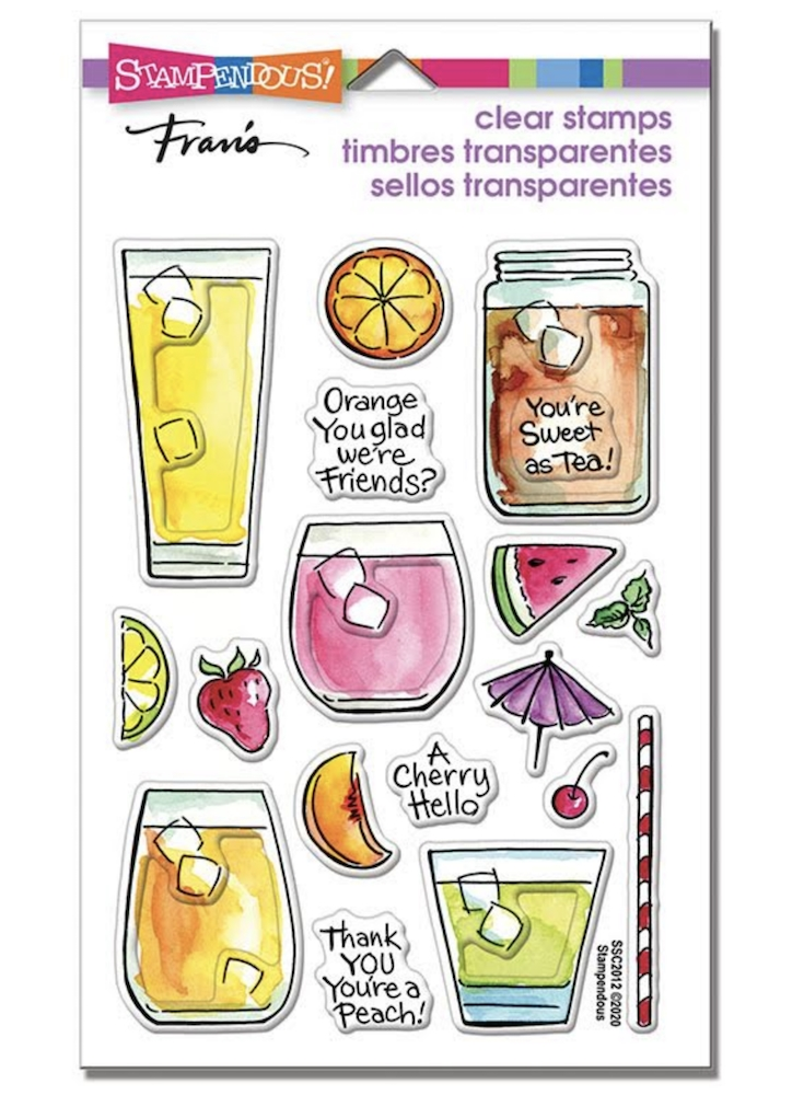 Stampendous Clear Stamps FRUITY DRINKS ssc2012 zoom image