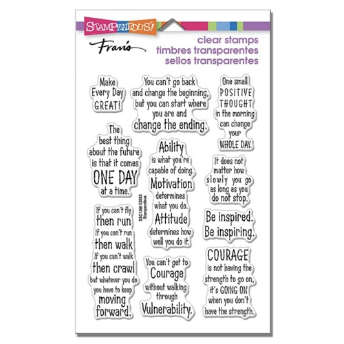 Stampendous Clear Stamps COURAGE QUOTES ssc1366 Preview Image