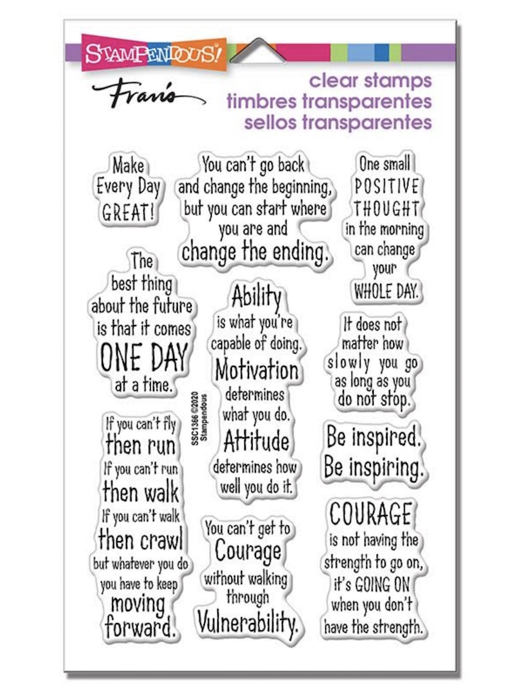 Stampendous Clear Stamps COURAGE QUOTES ssc1366 zoom image