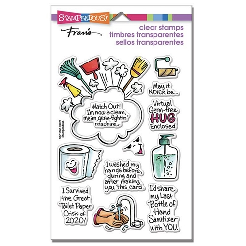 Stampendous Clear Stamps SURVIVED 2020 ssc1365 Preview Image
