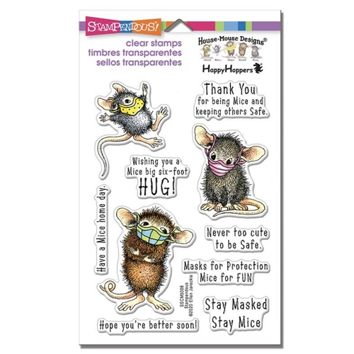 House Mouse Masked Mice Clear Stamp set