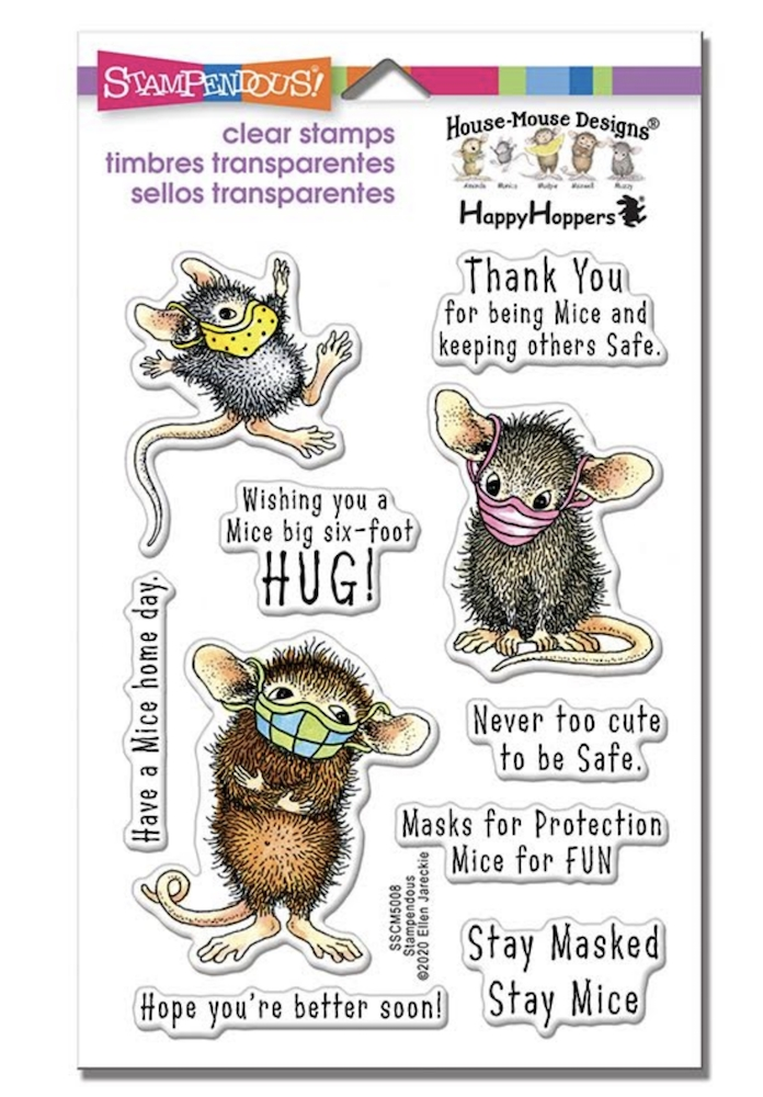Stampendous Clear Stamps MASKED MICE House Mouse sscm5008 zoom image
