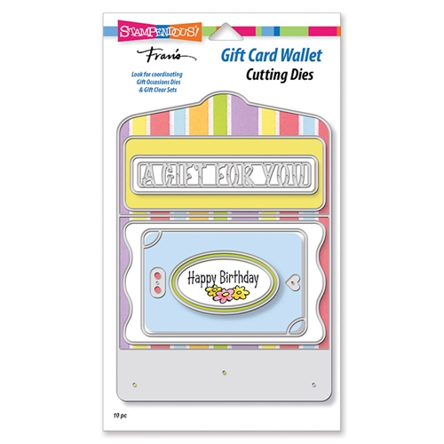 Stampendous GIFT CARD WALLET Die Set dcp1014 Preview Image