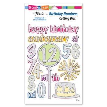 Stampendous BIRTHDAY NUMBERS Die Set dcp1015