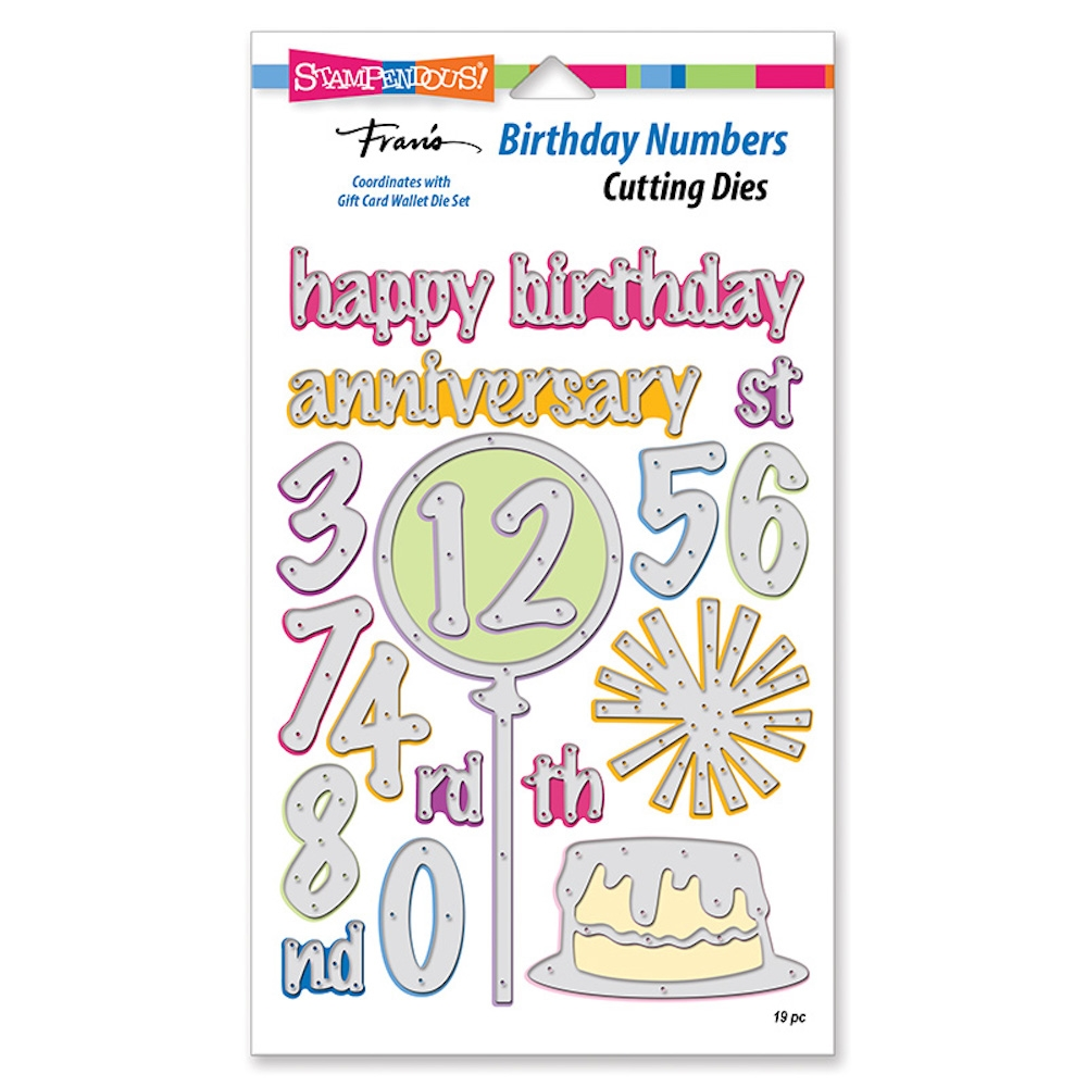 Stampendous BIRTHDAY NUMBERS Die Set dcp1015 zoom image