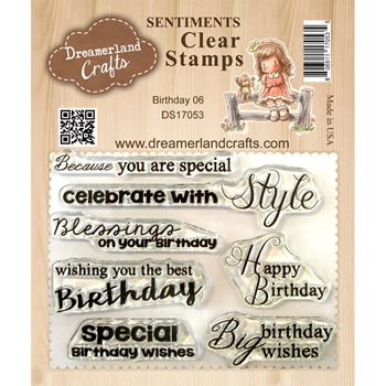 Dreamerland Crafts BIRTHDAY 06 Clear Stamp Set ds17053