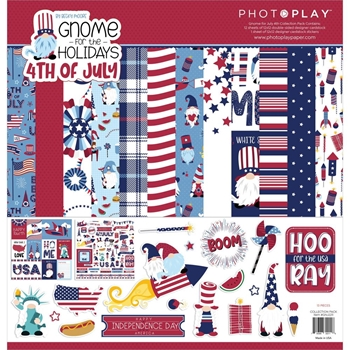 PhotoPlay GNOME FOR 4TH OF JULY 12 x 12 Collection Pack gnj2211
