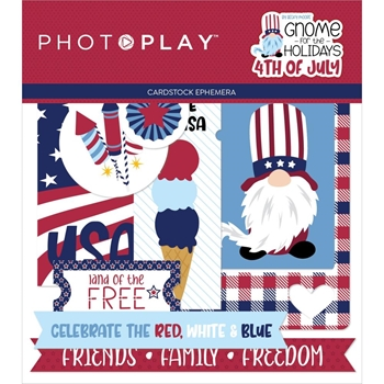 PhotoPlay GNOME FOR 4TH OF JULY Ephemera gnj2219