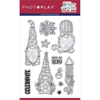 PhotoPlay GNOME FOR 4TH OF JULY Clear Stamps gnj2220