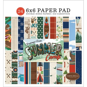 Carta Bella SUMMER CAMP 6 x 6 Paper Pad cbsc119023