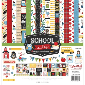 Echo Park SCHOOL RULES 12 x 12 Collection Kit scr215016