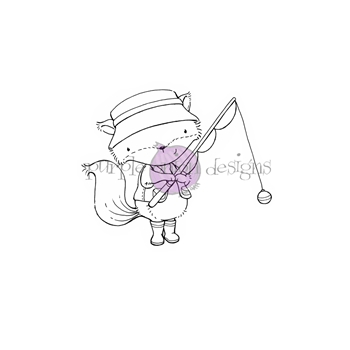 Purple Onion Designs BENTLEY Cling Stamp pod1170