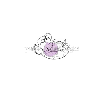 Purple Onion Designs PEONY Cling Stamp pod1174