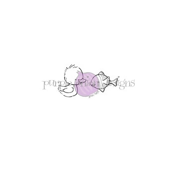 Purple Onion Designs CORAL AND NEPTUNE Cling Stamp pod1176