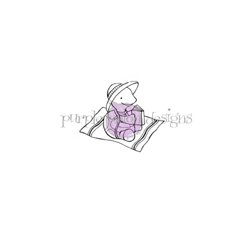 Purple Onion Designs AUGUST Cling Stamp pod1178