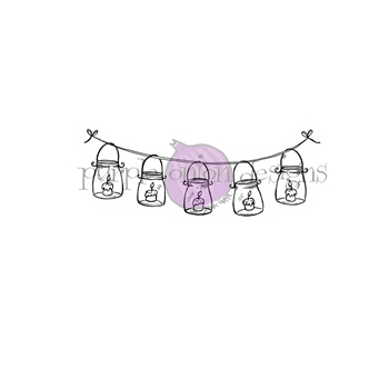 Purple Onion Designs LANTERN STRING Cling Stamp pod1184