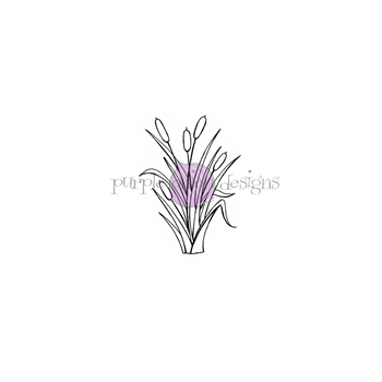 Purple Onion Designs CAT TAILS Cling Stamp pod1186