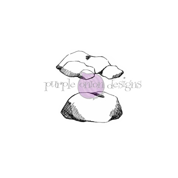 Purple Onion Designs ROCK SET Cling Stamp pod1187
