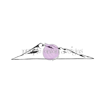 Purple Onion Designs SMALL SINGLE MOUNTAIN Cling Stamp pod1188