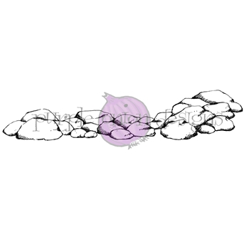 Purple Onion Designs ROCKY SHORE Cling Stamp pod1189