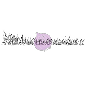 Purple Onion Designs GRASSY SHORE Cling Stamp pod1190