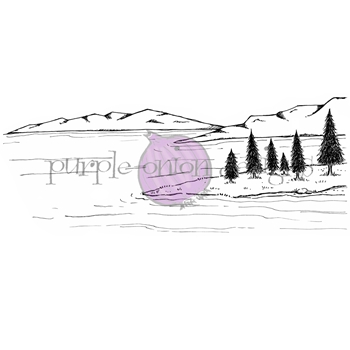 Purple Onion Designs LAKE BACKGROUND Cling Stamp pod1191