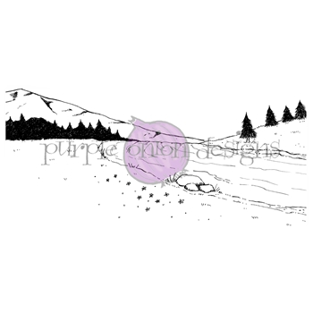 Purple Onion Designs LAZY RIVER BACKGROUND Cling Stamp pod1192
