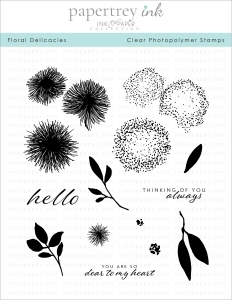 Ink to Paper FLORAL DELICACIES Clear Stamps 1162*