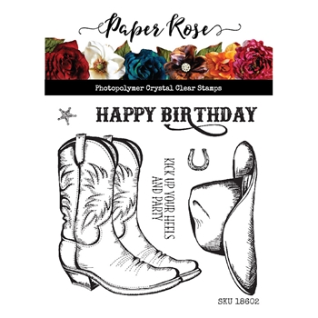 Paper Rose KICK YOUR HEELS UP Clear Stamp Set 18602