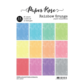 Paper Rose RAINBOW GRUNGE Paper Pack 19029