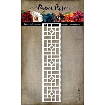 Paper Rose STAINED GLASS BORDER Craft Die 18530