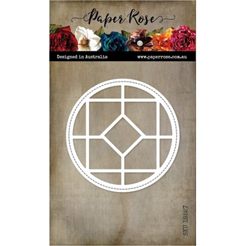 Paper Rose STAINED GLASS WINDOW Craft Die 18527