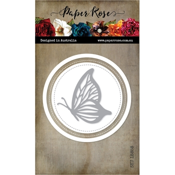 Paper Rose LAYERED BUTTERFLY CIRCLE Craft Dies 18858