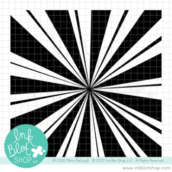 Ink Blot Shop Clear Stamp Set BURST BACKGROUND inbl091*