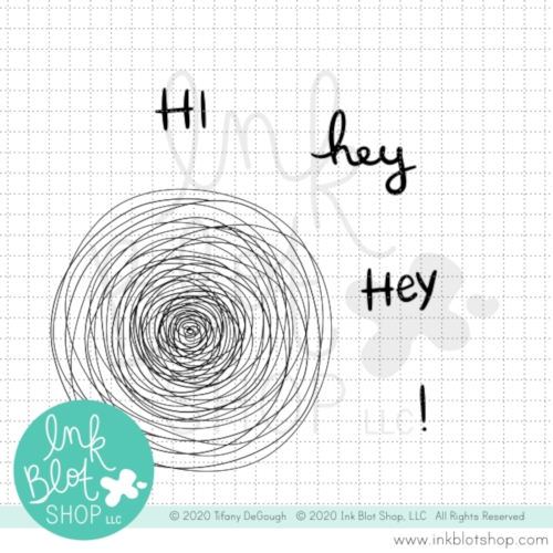 Ink Blot Shop Clear Stamp Set SCRIBBLE CIRCLE inbl086 Preview Image