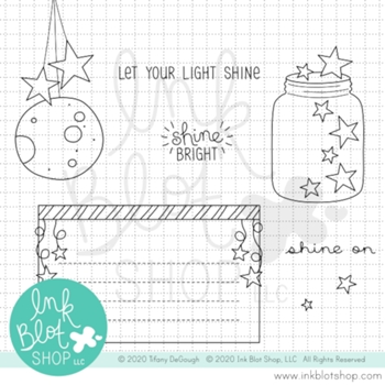 Ink Blot Shop Clear Stamp Set SHINE ON inbl087