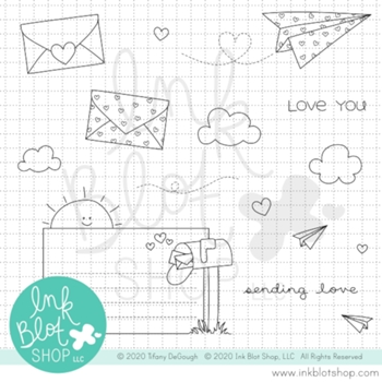 Ink Blot Shop Clear Stamp Set SENDING LOVE inbl089