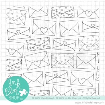 Ink Blot Shop Clear Stamp Set HAPPY MAIL BACKGROUND inbl093