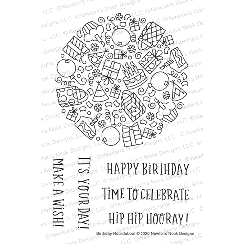 Newton's Nook Designs BIRTHDAY ROUNDABOUT Clear Stamps NN2005S04 Preview Image