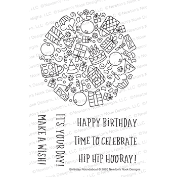 Newton's Nook Designs BIRTHDAY ROUNDABOUT Clear Stamps NN2005S04
