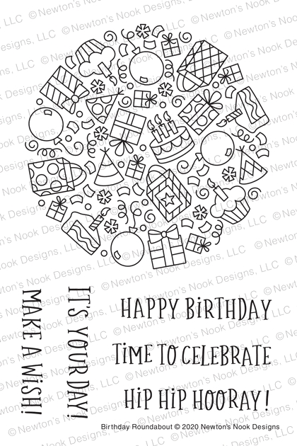 Newton's Nook Designs BIRTHDAY ROUNDABOUT Clear Stamps NN2005S04 zoom image