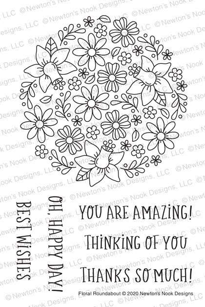 Newton's Nook Designs FLORAL ROUNDABOUT Clear Stamps NN2005S05 zoom image