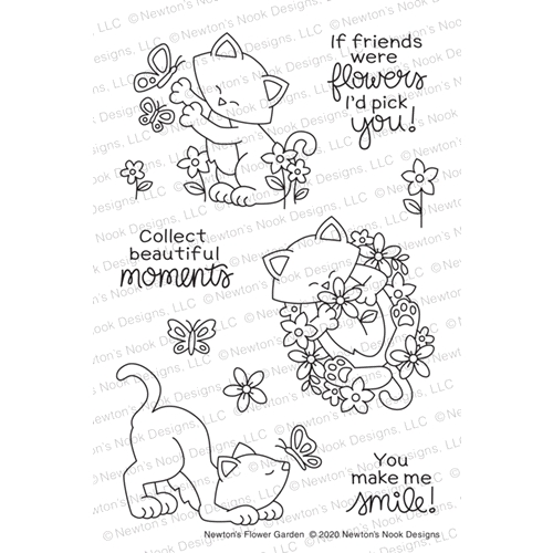 Newton's Nook Designs NEWTON'S FLOWER GARDEN Clear Stamps NN2005S03 Preview Image